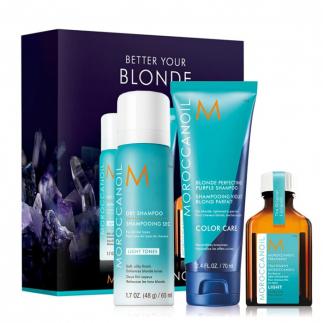 Комплект за руса коса Моroccanoil Blonde Travel Set