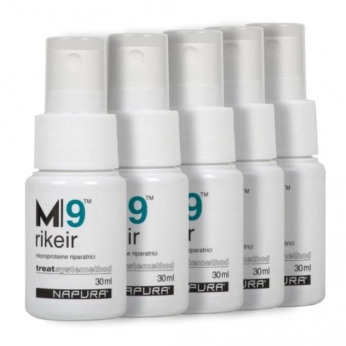 Спрей за възстановяване на кератина за изтощена коса 5 бр. х 30 мл NAPURA M|9 Rikeir Pre