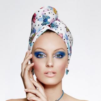 Дизайнерска кърпа за коса Aglique May памучна
