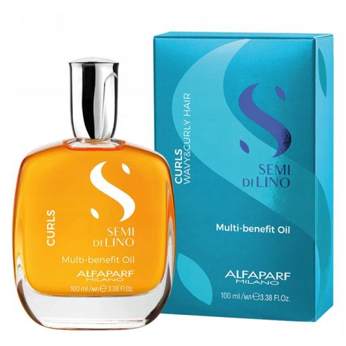 Мултифункционално олио за къдрава и чуплива коса 100 мл Alfaparf SDL Curls Multi-benefit Oil