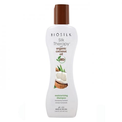 Хидратиращ шампоан с органично кокосово масло 355 мл BioSilk Silk Therapy Coconut Oil Shampoo