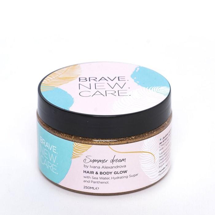 Хидратиращ гел за коса и тяло с бляскави частици 250 мл Brave New Hair Summer dream