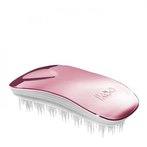 Четка за коса IKOO Rose Metallic (бяла основа)