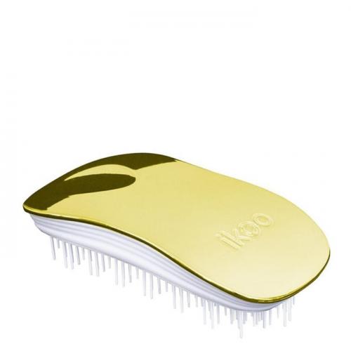 Четка за коса IKOO Soleil Metallic (бяла основа)