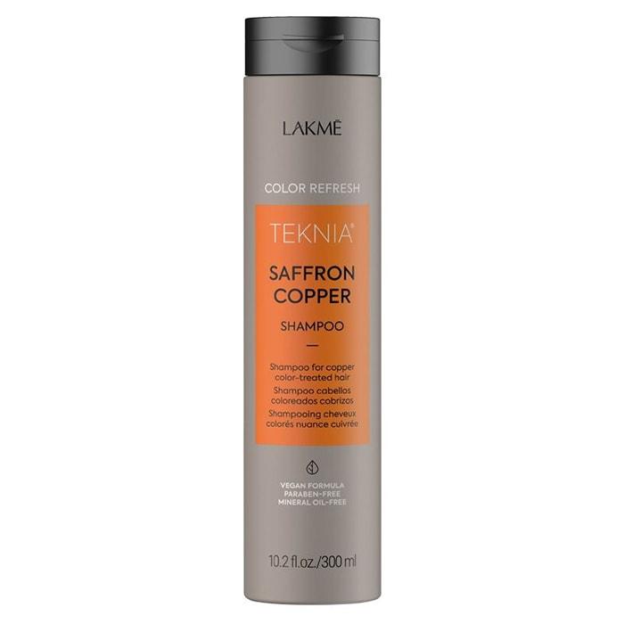 Оцветяващ шампоан за коса в медни тонове 300 мл LAKME Refresh Saffron Copper Shampoo