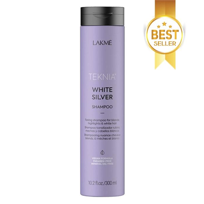 Тониращ шампоан за руса коса LAKME White Silver Shampoo 300 мл