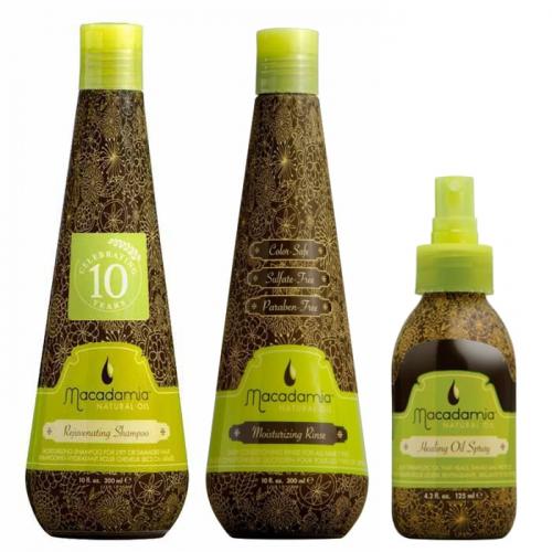 Трио Класическа Macadamia за фини коси