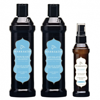 Трио за подхранване и възстановяване на фини коси Marrakesh Light Breeze