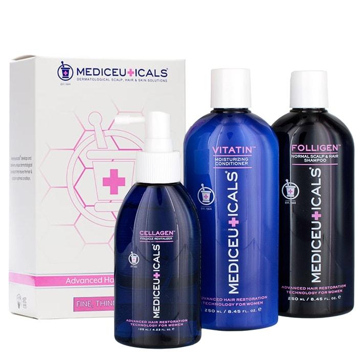 Комплект против косопад за жени за всеки тип коса Mediceuticals Advanced Hair Restoration Kit