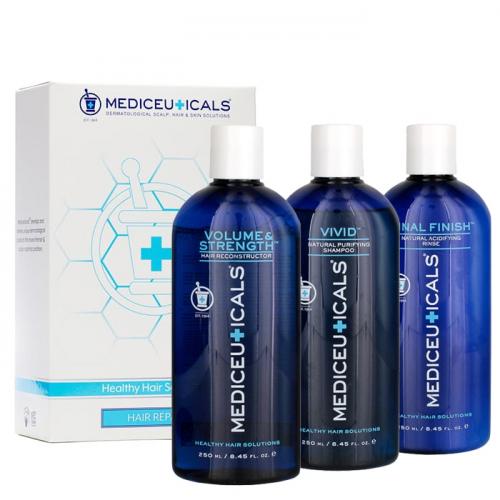 Комплект за възстановяване и защита на изтощена коса Mediceuticals Healthy Hair Kit