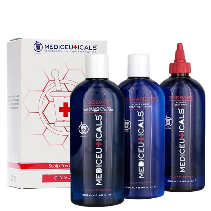 Комплект за мазен скалп Mediceuticals Scalp Treatment Kit - Oily Scalp