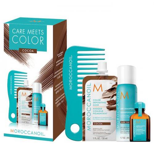 Комплект за тониране на косата в какао Moroccanoil Cocoa Set