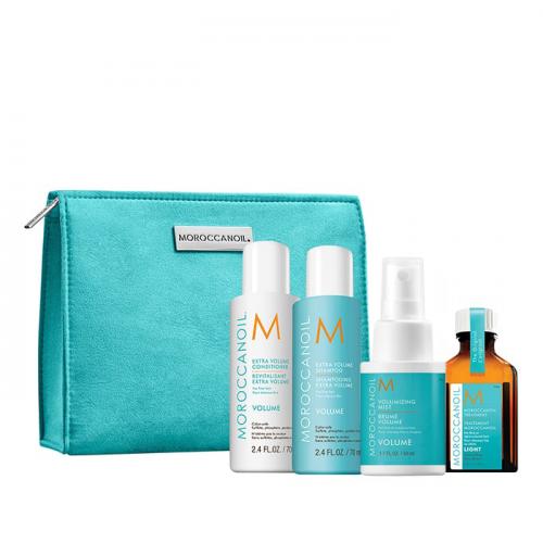 Комплект за път за обем + подарък несесер Moroccanoil Volume Trial Kit