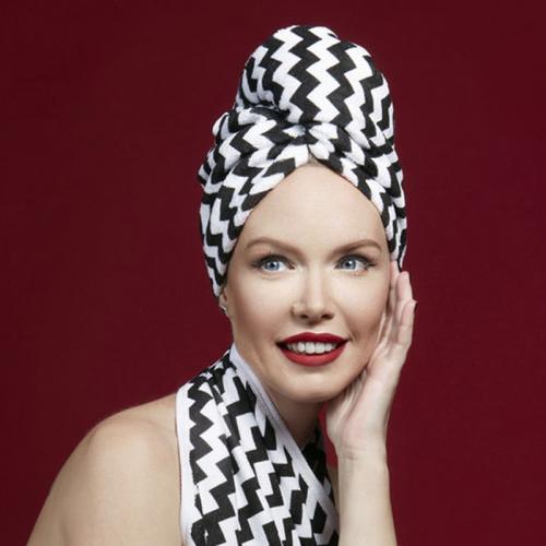Дизайнерска кърпа за коса Aglique Zig Zag памучна