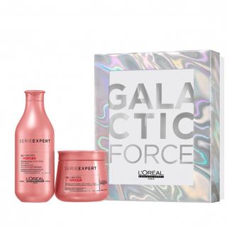 Коледен комплект против накъсване за изтощена коса Loreal Galactic Force