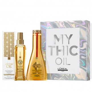 Подаръчен комплект за плътна коса Loreal Mythic Oil