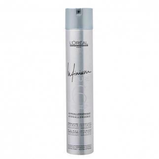 Хипоалергенен лак за коса много силна фиксация 500мл Loreal Infinium Pure 6 Extra Strong