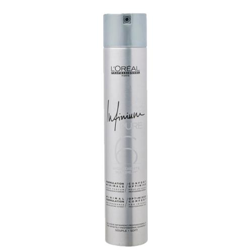 Хипоалергенен лак за коса лека фиксация 500мл Loreal Infinium Pure 6 Soft
