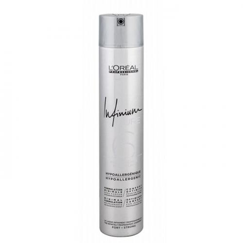 Хипоалергенен лак за коса със силна фиксация 500мл Loreal Infinium Pure 6 Strong