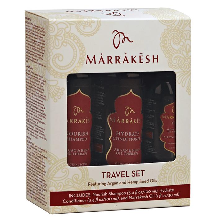 Комплект за път за всеки тип коса Marrakesh Original Travel Set