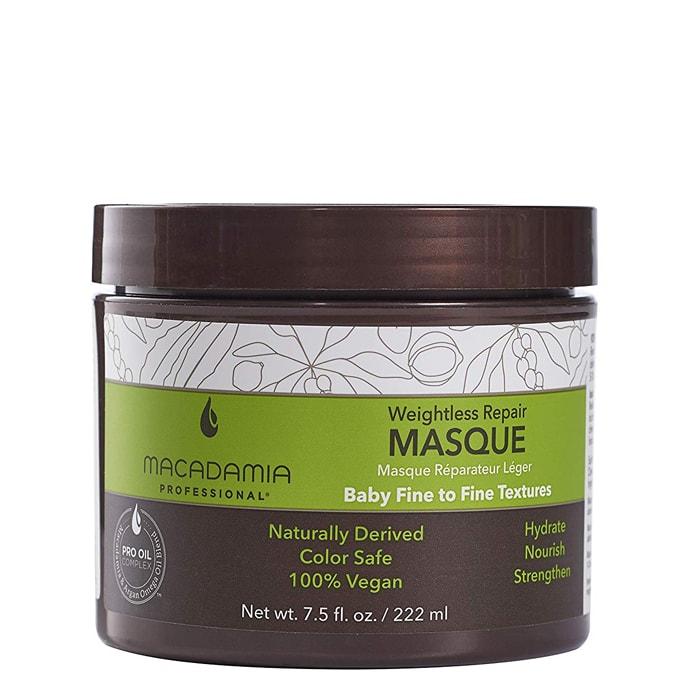 Маска за възстановяване на изтощена тънка коса 222 мл Macadamia Weightless Repair