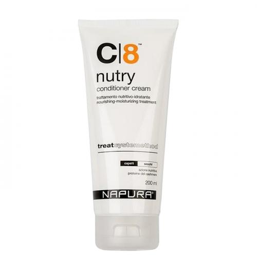 Крем балсам за суха коса с протеини и масло от авокадо 200 мл NAPURA C|8 Nutry