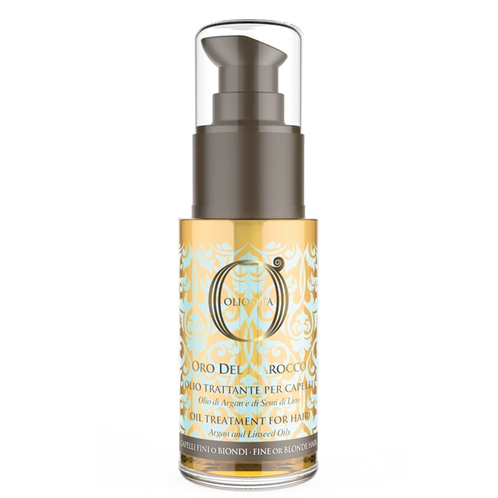 Арганово олио за подхранване за фина или руса коса 30 мл Olioseta Oro Del Marocco