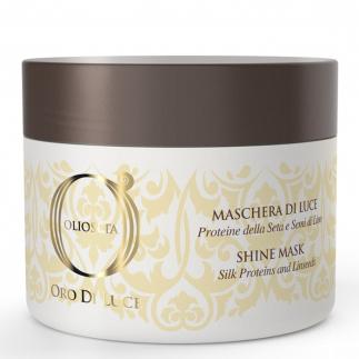 Подхранваща маска за блясък с масло от ленено семе 200 мл Olioseta Oro Di Luce