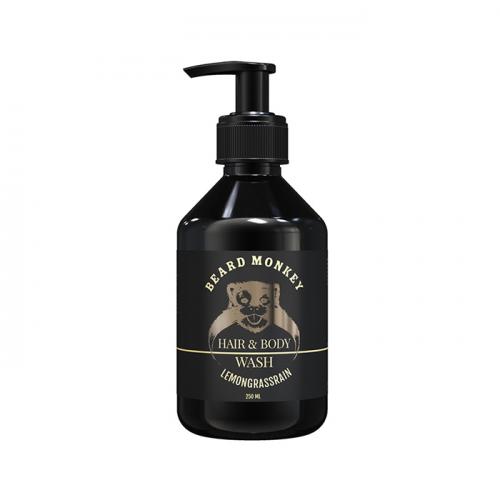 Шампоан и душ гел за мъже 2 в 1 Beard Monkey с аромат на лимонова трева 250 мл