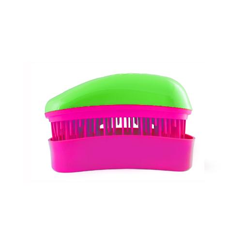 Мини четка за коса Dessata Mini Зелено / Фуксия