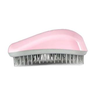 Четка за коса Dessata Розов кварц / Сребро