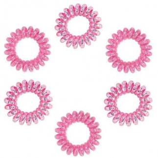 Ластици за коса Dessata No Pulling Fucsia Metal розово 6 броя