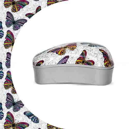 Mини четка за коса Dessata Prints Butterflies