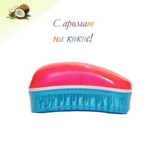 Мини четка за коса с аромат на кокос Dessata Mini Фуксия / Тюркоаз
