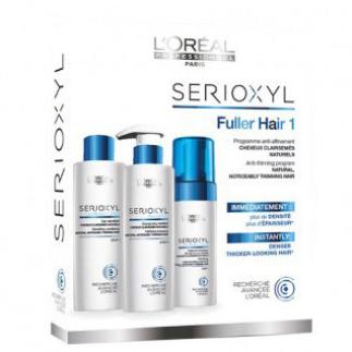 Програма срещу изтъняване за естествена, изтъняваща коса Loreal Professionnel Serioxyl Anti-Thinning Programme 1