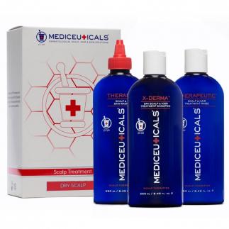 Комплект за сух, лющещ се скалп Mediceuticals Scalp Treatment Kit - Dry Scalp