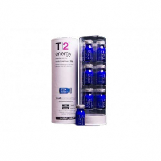 Ампули против силен косопад за нормална коса 12 бр. х 8 мл NAPURA T|2 Energy Post