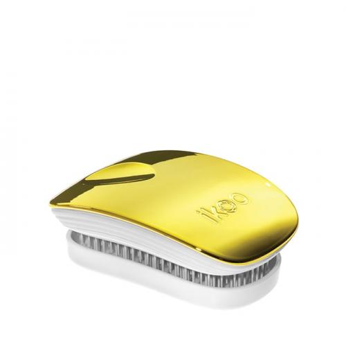Компактна четка с капаче IKOO Soleil Metallic Pocket (бяла основа)