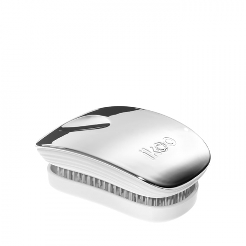 Компактна четка с капаче IKOO Oyster Metallic Pocket (бяла основа)