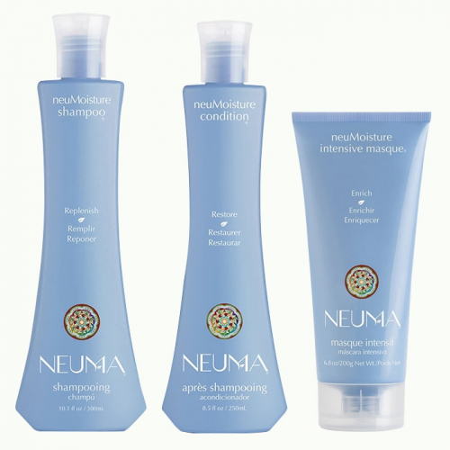 Трио шампоан, балсам и маска за хидратация NEUMA NeuMoisture