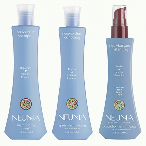 Трио шампоан, балсам и термозащитен серум за хидратация NEUMA NeuMoisture