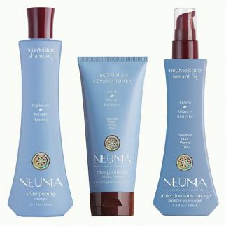 Трио шампоан, маска и термозащитен серум за хидратация NEUMA NeuMoisture