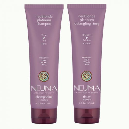 Дуо шампоан и балсам за тониране на руса коса NEUMA NeuBlonde Platinum
