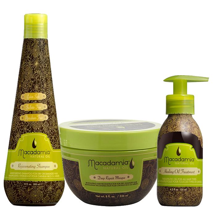 Трио шампоан, маска и лечебно олио Macadamia класическа линия