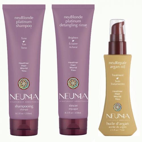 Трио за тониране и възстановяване на руса коса NEUMA