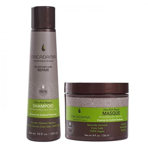 Дуо шампоан и маска Macadamia Ultra Rich Repair за плътна коса