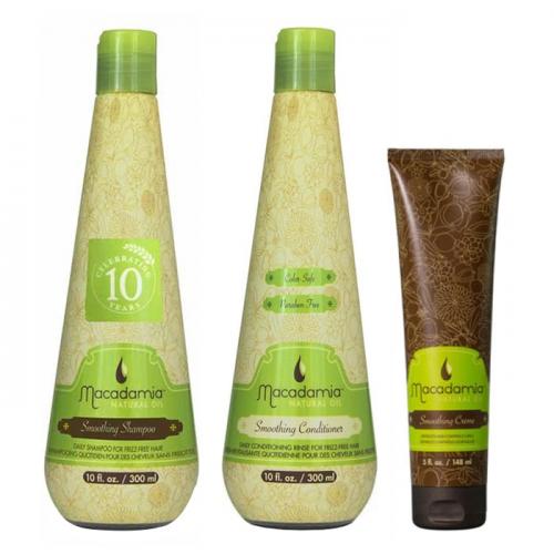 Трио шампоан, балсам и крем Macadamia Smoothing за гладка коса