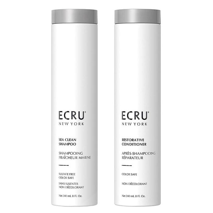 Дуо шампоан и балсам за ежедневна грижа и възстановяване на изтощена коса ECRU New York