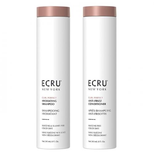 Дуо шампоан и балсам за хидратиране и оформяне на къдрава коса ECRU New York