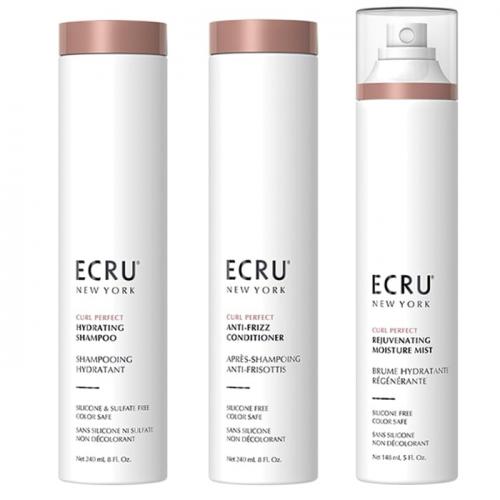 Трио шампоан, балсам и спрей за хидратация на къдрава коса ECRU New York
